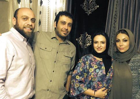 محسن چاووشی و همسرش - گلاره عباسی و همسرش