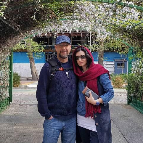 محمد بحرانی و همسرش