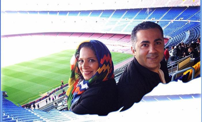 روشنک عجمیان و همسرش