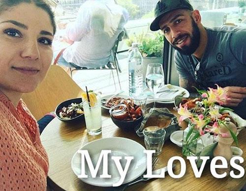 اشکان دژاگه و همسرش شقایق