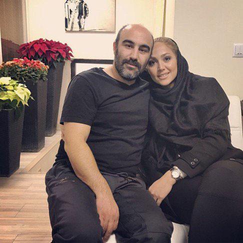 محسن تنابنده و همسرش روشنک