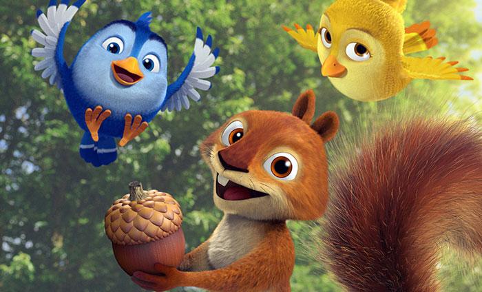قصۀ جالب کبوتر و سنجاب