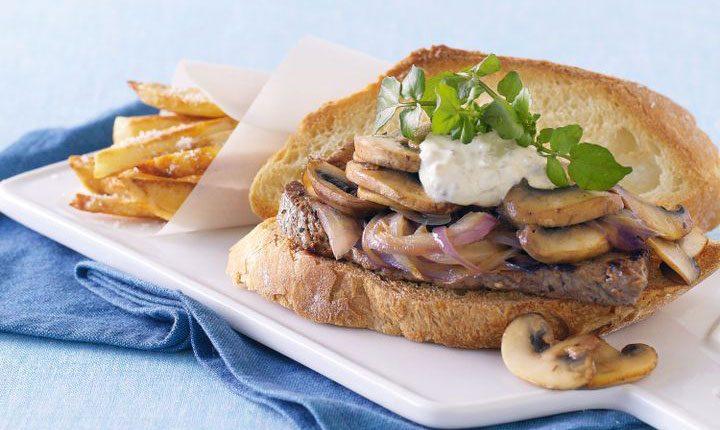 ساندویچ قارچ