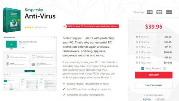 آنتیویروس kaspersky