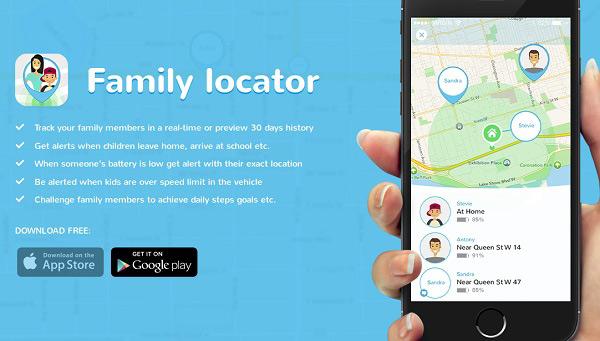 برنامه Family GPS Tracker