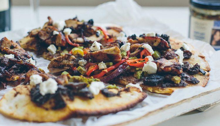 پیتزا مرغ و بادمجان