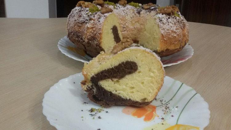 کیک کرهای دورنگ