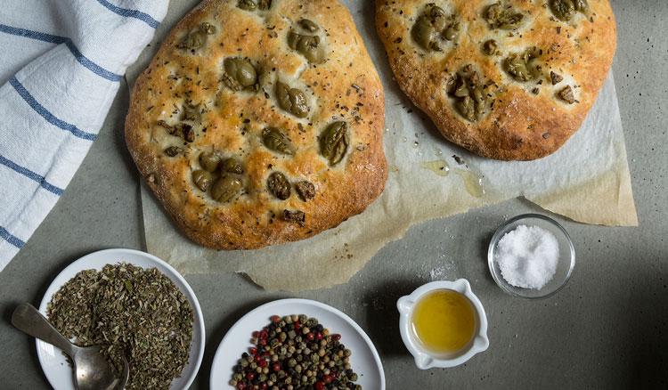 نان لقمهای زیتون