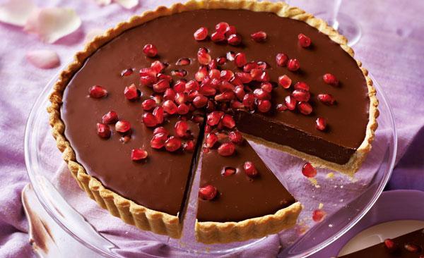 تارت انار و شکلات