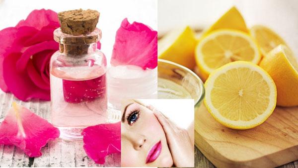 ترکیب گلاب و آبلیمو برای درمان جوش صورت