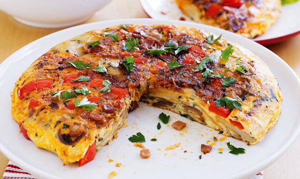 املت اسپانیایی یک املت خوشمزه با گوجه