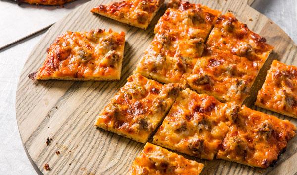 نان پیتزایی فوری یک نان خانگی خوشمزه