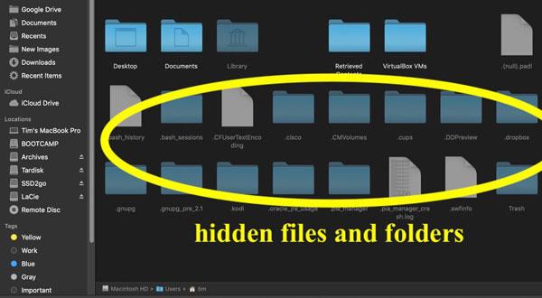 راههای پیدا کردن فایل مخفی