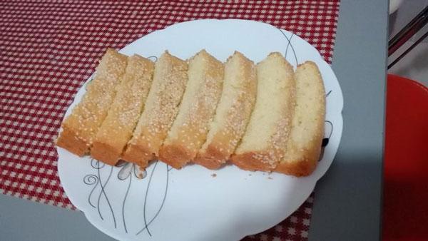 کیک شیفون نارگیلی