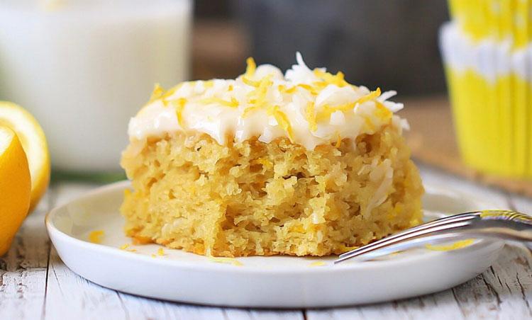 کیک با پودر نارگیل