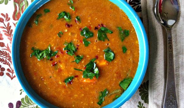 سوپ رژیمی عدس بدون گوشت