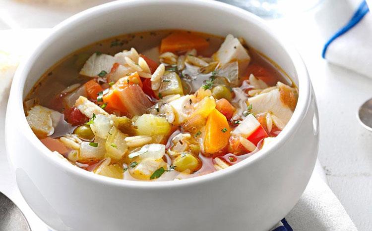 سوپ سبزیجات بدون گوشت