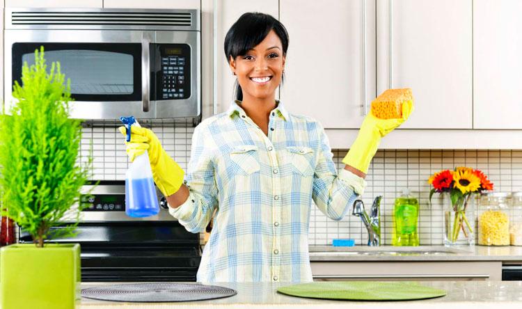 تمیز کردن سطوح آشپزخانه