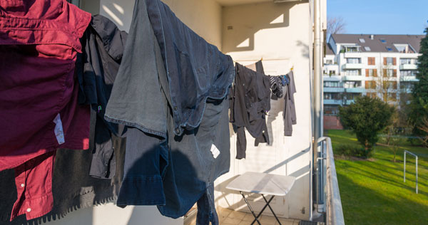 از بین بردن کپک لباس