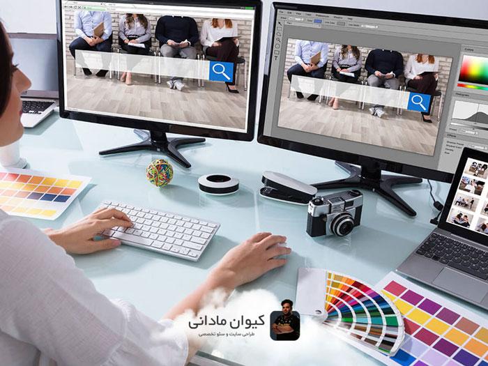 عناصر طراحی وب سایت